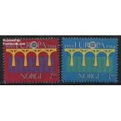 2 عدد تمبر مشترک اروپا - Europa Cept - نروژ 1984