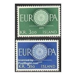 2 عدد تمبر مشترک اروپا - Europa Cept - ایسلند 1960