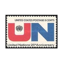 1 عدد تمبر سازمان ملل - آمریکا 1970