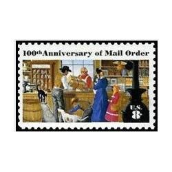 1 عدد تمبر پست الکترونیکی سفارش کار - آمریکا 1972