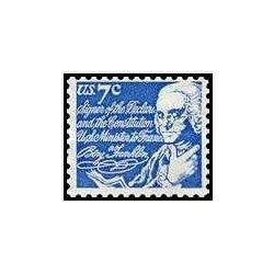 1 عدد تمبر اشخاص مشهور آمریکا - بنجامین فراکلین - آمریکا 1972