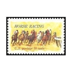 1 عدد تمبر مسابقه اسب دوانی - آمریکا 1974
