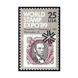 1 عدد تمبر 89مین نمایشگاه بین المللی تمبر - واشنگتن دی سی  - آمریکا 1989