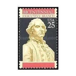1 عدد تمبر 200مین سالگرد قانون اساسی - واحد اجرایی - آمریکا 1989