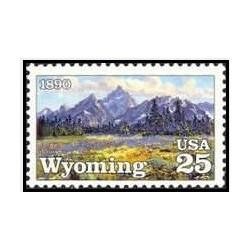 1 عدد تمبر صدمین سالگرد ایالت وایومینگ- آمریکا 1990