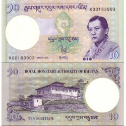 اسکناس 10 نگولتروم - بوتان 2006