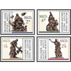 4 عدد تمبر 300مین سالگرد مرگ گافا- مالت 1967