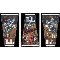 3 عدد تمبر کریسمس - مالت 1967