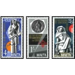 3 عدد تمبر مشترک اروپا - Europa Cept - کنفرانس منطقه ای فائو  - مالت 1968