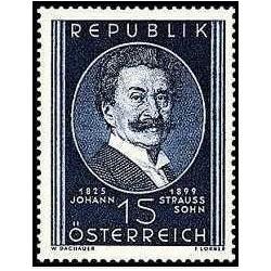 1 عدد تمبر50مین سالگرد مرگ یوهان اشتراوس جوان - موسیقیدان - اتریش 1949