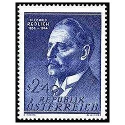 1 عدد تمبر صدمین سالگرد تولد پروفسور دکتر اسوالد ردلیخ  - اتریش 1958
