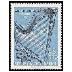 1 عدد تمبر تور جهانی کنسرت ارکستر فیلار مونیک وین - اتریش 1959