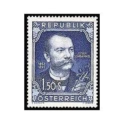 1 عدد تمبر صدمین سالگرد تولد جوزف شرامل - آهنگساز - اتریش 1952
