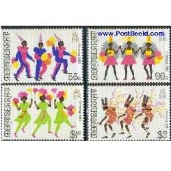 4 عدد تمبر کریستمس - مونتسرت 1983
