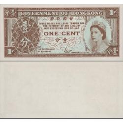 اسکناس  1 سنت  - هنگ کنگ 1981 الی 1986 تصویر ملکه الیزابت دوم