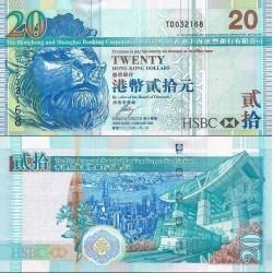 اسکناس 20 دلار - بانک شرکتی هنگ کنگ و شانگهای - هنگ کنگ 2009