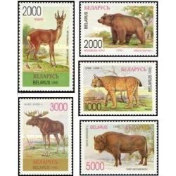5 عدد تمبر حیوانات بلاروس - بلاروس 1996