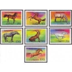 7 عدد تمبر اسبها - تانزانیا 1993