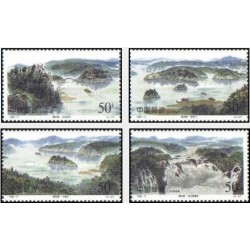 4 عدد تمبر دریاچه جیانگ پو - چین 1998