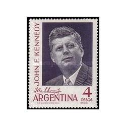 1 عدد تمبر یادبود رئیس جمهور کندی - آرژانتین  1964
