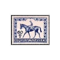 1 عدد تمبر اسب - دربی وین - اتریش  1947