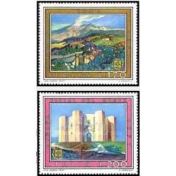 2 عدد تمبر مشترک اروپا- Europa Cept - ایتالیا 1977