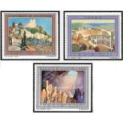 3 عدد تمبر تبلیغات گردشگری - تابلو نقاشی - ایتالیا 1977