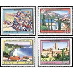 4 عدد تمبر تبلیغات گردشگری - تابلو نقاشی - ایتالیا 1981