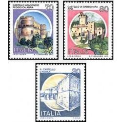 3 عدد تمبر سری پستی قلعه ها - ایتالیا 1981