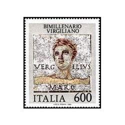 1 عدد تمبر 2000مین سالگرد مرگ ویرژیل - شاعر - ایتالیا 1981