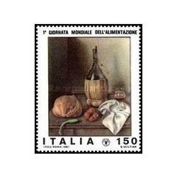 1 عدد تمبر روز جهانی غذا - ایتالیا 1981