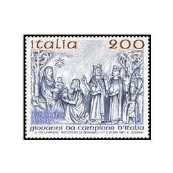 1 عدد تمبر کریسمس - ایتالیا 1981