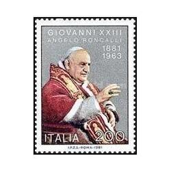 1 عدد تمبر صدمین سالگرد تولد پاپ ژان بیست و سوم - ایتالیا 1981