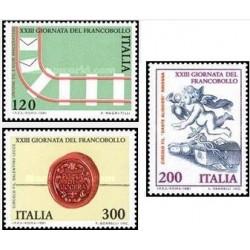 3 عدد تمبر روز تمبر - ایتالیا 1981