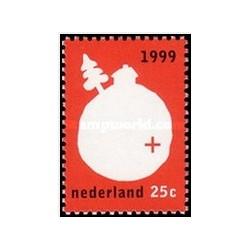 1 عدد تمبر زمستان - هلند 1999
