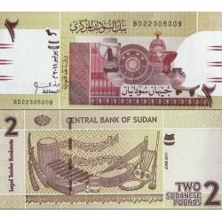 اسکناس 2 پوند - سودان 2011