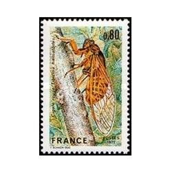 1 عدد تمبر حفاظت از طبیعت - فرانسه 1977