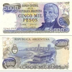 اسکناس 5000 پزو - آرژانتین 1983