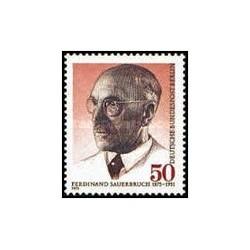 1 عدد تمبر صدمین سالگرد تولد فردیناند زاوئر بروخ - جراح - برلین آلمان 1975