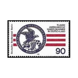 1 عدد تمبر 75مین سالگرد تاسیس اتاق بازرگانی آمریکا - برلین آلمان 1978