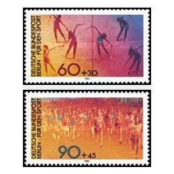 2 عدد تمبر ورزشی - برلین آلمان 1981