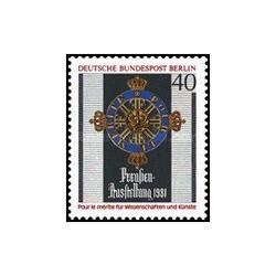 1 عدد تمبر نمایشگاه هنر - برلین آلمان 1981