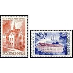 2 عدد تمبر بناهای تاریخی - لوگزامبورگ 1980
