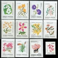 12 عدد تمبر گلها - آرژانتین 1985