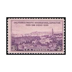 1 عدد تمبر نمایشگاه کالیفرنیا و اقیانوسیه - سن دیگو - آمریکا 1935