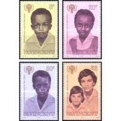 4 عدد تمبر سال بین المللی کودک - سنت وینسنت 1979