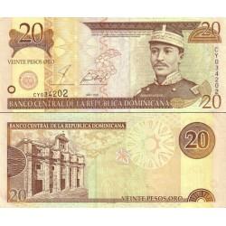 اسکناس 20 پزو - جمهوری دومنیکن 2001