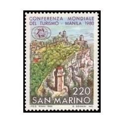 1 عدد تمبر کنفرانس بین المللی گردشگری ، مانیل - سان مارینو 1980