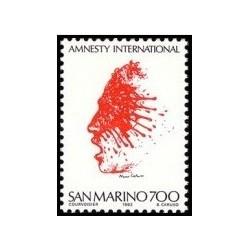 1 عدد تمبر 20مین سالگرد سازمان عفو بین الملل - سان مارینو 1982