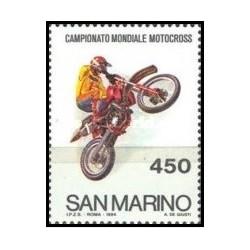 1 عدد تمبر مسابقات قهرمانی جهانی موتوکراس- سان مارینو 1984